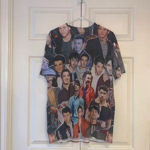 Jonas brothers collage t shirt